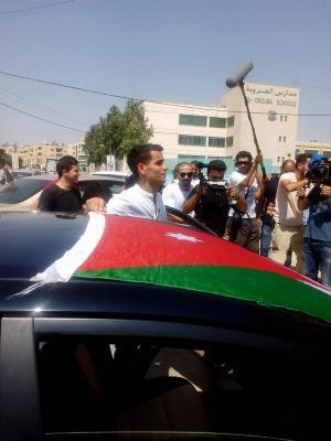 سيارة للبطل الاولمبي أبو غوش (صور)
