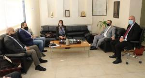 وفد من بنك القاهرة عمان يزور جامعة عمان العربية
