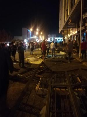 انفجار اسطوانة غاز بأحد مطاعم شارع المدينة المنورة (صور)