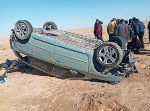 """وفاة شخصين بتدهور مركبة على """"الصحراوي"""""""