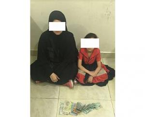 القبض على متسولة اردنية وابنتها في الكويت