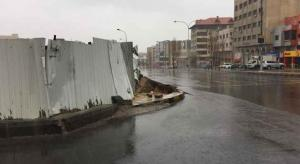 اغلاق شارع الجاردنز بسبب انهيارات (فيديو)