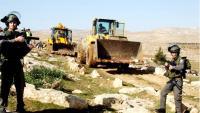 الاحتلال يُدّمر عددًا من شبكات المياه بالخليل