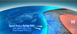 كتلة هوائية باردة وأمطار تجتاح المملكة الثلاثاء