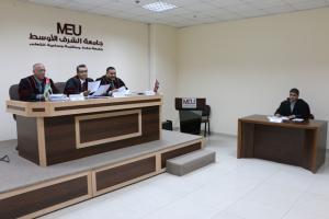ماجستير في جامعة الشرق الأوسط حول أثر الرافعتين التشغيلية والمالية