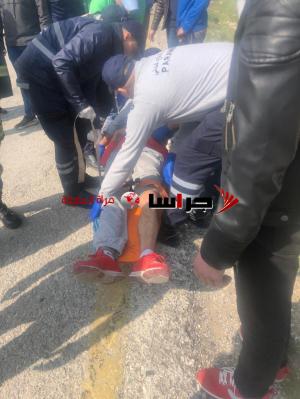 تصادم مركبتين على طريق عمان جرش (صور)