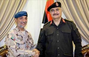 ليبيا: حفتر يجتمع مع نائب رئيس الأركان الإماراتي