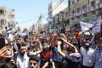 مسيرة حاشدة في اربد لنصرة القدس وغزة  ..  (صور)