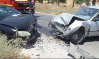 10 اصابات بتصادم حافلة و4 مركبات في عمان
