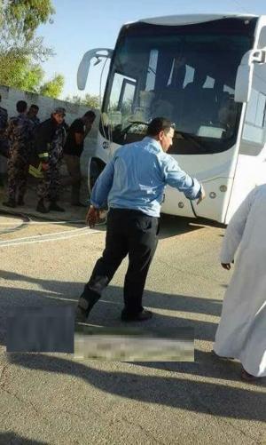 نجاة 20 راكبا هنديا من تدهور حافلتهم بالأغوار الشمالية