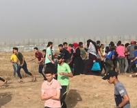 غزة  ..  اصابات وحالات اختناق بجمعة كسر الحصار (صور)