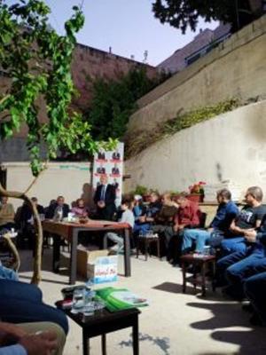 المرشح البيطار  يسجل هدف النصر في المدينة الرياضية (صور)