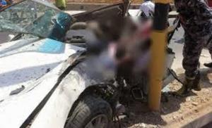 إصابة 9 أشخاص  بحادث تصادم في اربد