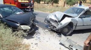 6 اصابات بحادث تصادم في معان