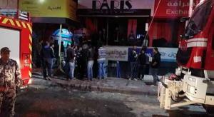 شقيقان يشعلان اسطوانة غاز ويلقياها على صالون في اربد (صور وفيديو)
