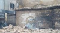 السلط: انهيار جدار استنادي ضخم يتسبب بأضرار كبيرة (صور)