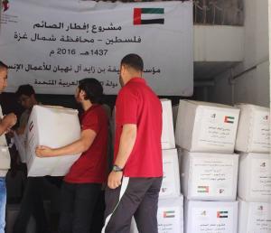 غزة  ..  15 الف أسرة تستفيد من الطرود الغذائية