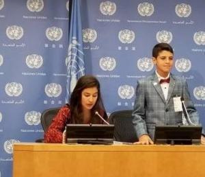 طالبة أردنية تثير ذهول الأمم المتحدة