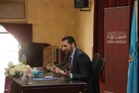 محاضرة للدكتور محمد نوح القضاه في جامعة الزرقاء