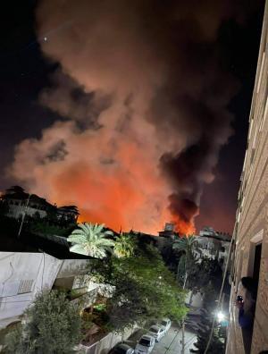 غارات صهيونية على منطقة الكتيبة في غزة
