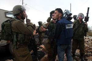 70 انتهاكا ضد الصحفيين بفلسطين