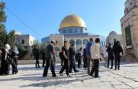 مستوطنون يقتحمون الأقصى بحراسة شرطة الاحتلال