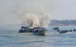 الاحتلال يعتدي على قوارب صيادين شمالي غزة