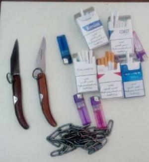 ضبط ادوات حادة بحوزة طلاب داخل مدرسة بالزرقاء ! (صور)