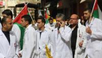 نقابة أطباء فلسطين تواصل فعالياتها. الاحتجاجية