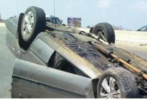 مصرع شخصين واصابة 3 بتدهور مركبة في مادبا