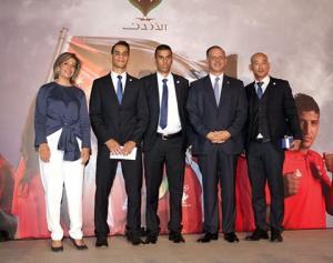اللجنة الاولمبية تسلم ابو غوش الجائزة الكبرى