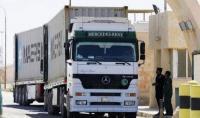 57 شاحنة دخلت عبر جابر الأحد