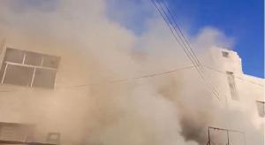 حريق في منطقة صويلح الصناعية