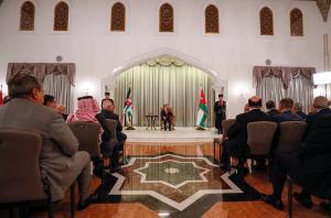 الملك يستمع إلى رد مجلس الأمة على خطاب العرش (صور)