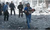 مقتل 15 طفلا بغارة جوية على مدرسة في الغوطة