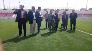 لجنة الرياضة والشباب بمجلس العاصمة تتفقد مدينة الملك عبدالله الرياضية