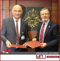 َاتفاقية تعاون بين جامعة الشرق الأوسط ووكالة (بترا)