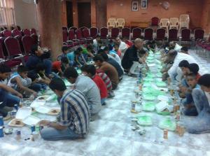 نادي فقوع الثقافي يقيم مأدبة افطار للايتام