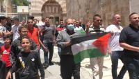 مسيرة من الحرم الإبراهيمي احتجاجا على منع الأذان