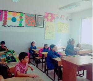 مدرسة في البادية الشمالية تكسر الاضراب (صور)