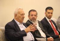 جلسة حوارية بين ناصر الدين ونقيب مجلس نقابة المحامين وأعضائه