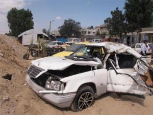 6 اصابات بحادث تصادم في أبو علندا