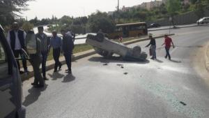 6 اصابات بتصادم 4 مركبات قرب جسر ياجوز