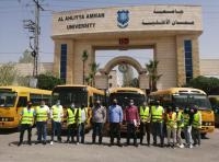 جامعة عمان الأهلية تختتم حملاتها الخيرية في شهر رمضان المبارك
