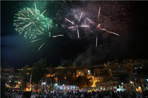ألعاب نارية بسماء عمان احتفاء بالاستقلال (صور)