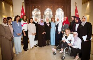 جلالة الملكة تلتقي مجموعة من السيدات الاردنيات