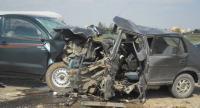 """اصابة 7 اشخاص بتصادم مركبتين على """"الصحراوي"""""""