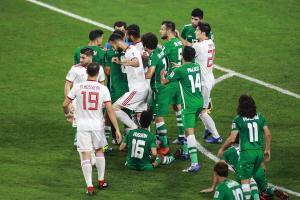 فوز العراق على ايران بستاد عمان