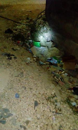 عبارات تصريف المياه تُنذر بكارثة في منطقة الضليل والبلدية تتدخل ..  صور