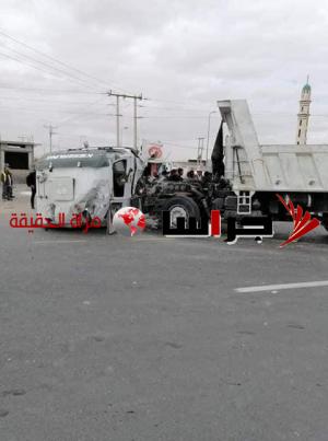 68 إصابة بحادث على الطريق الصحراوي (فيديو وصور)